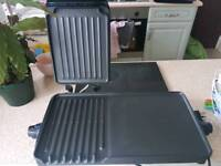 George Foreman grill and hot grill plate