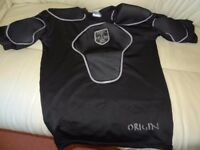 Mens Rugby Vest size M Optimum Origin Body Protection with Shoulder & Chest Pads