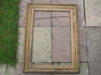 """Antique Gilt Picture Frame / Mirror Frame Large 27"""" x 35"""" Shabby Chic Restoration Project"""