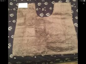 Pedestal mat Egyptian cotton 50-55cm walnut colour is £15 from marks and Spencer's unwanted gift