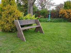 Garden bench (up-cycled scaffolding boards)