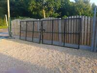 Security gate and fence