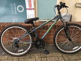 Boys Apollo 20inch wheels, 18 gear, excellent condition, mountain bike