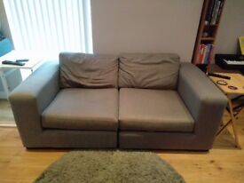 MADE modular 2 seat sofa for sale - chalk grey