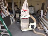 Jet dust extractor for wood workshop