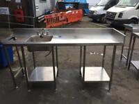 Stainless steel table top for bar cafe shop restaurant