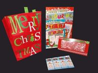 Christmas Activity Books X 12 XMAS Bags X 12 Candy Canes X 12 Crayons X 48