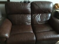 Leather Electric 2 Seater Recliner Sofa