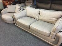 New / Ex Display DFS Love, Swivel, Cuddle Chair + 3 Seater Sofa