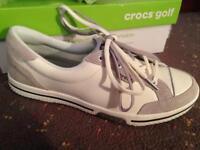 Ladies golf shoes- Crocs UK size 8 (brand new)