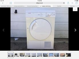 BOSCH CLASSIXX 7 TUMBLE DRYER 7KG LOAD VARIOUS PROGRAMS PERFECT WORKING ORDER