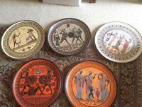 Greek decorative plates
