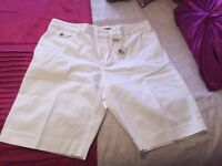 Ladies White Ralph Lauran Shorts New with Tags size 14
