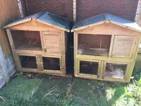 Rabbit hutch x 2 - good condition - free to a good home