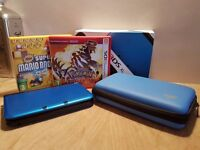 Nintendo 3DS XL with 2 games, case, charger & accessories