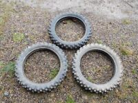 """Used Motorcross and Enduro Tyres - 14"""" 16"""" and 18"""""""