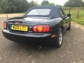 Mazda MX5 year 2000, clean example, years MOT, new tyres, much work done