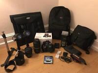 Amazing Canon 600D bundle inc 15-85mm lens, 70-300mm lens