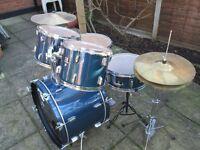 Drums - Beginners CB 5 Drum Kit - Blue