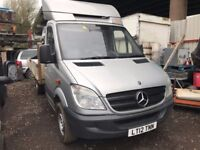 Mercedes Sprinter 313, 2012 (12reg) Flatbed, Easy to convert to recovery truck, 137000k Automatic