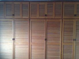 Hardwood Louvre Wardrobe Doors