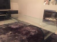 Bespoke glass coffee table