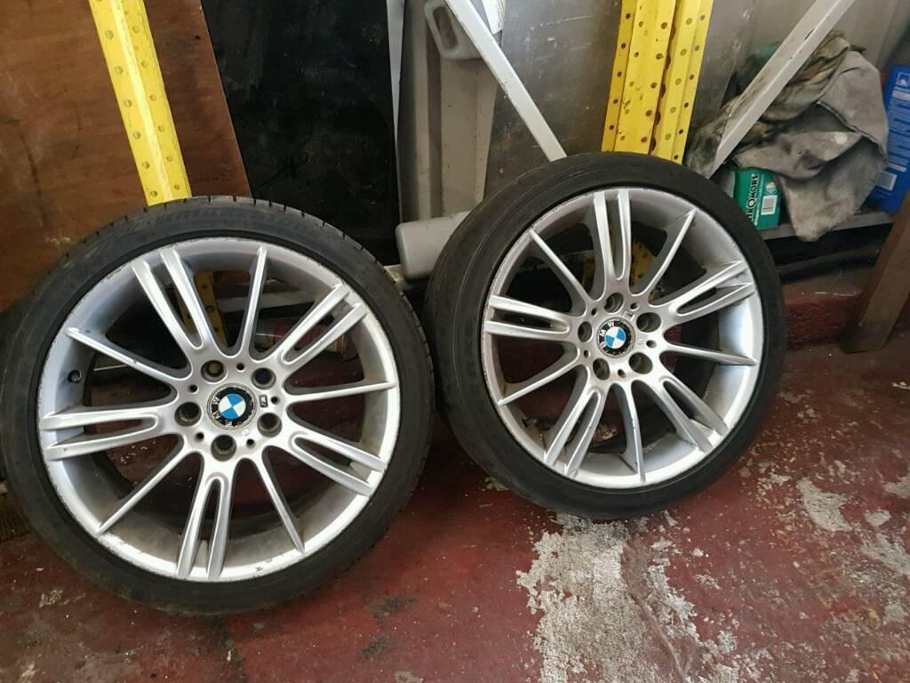 BMW E90 E91 E92 E93 E46 MV3 ALLOY WHEEL WITH GOOD TYRE