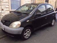 Toyota Yaris Gs, Black, 5 Door, 12 Months Mot, Alloy Wheels, Toyota cd Player, 1 Litre