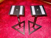 MILLENIUM BS-500 (x2) NEARFIELD MONITOR STANDS - ASSEMBLED BUT UNUSED - UNMARKED