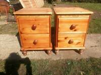 2 pine Bedside tables