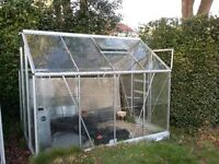 Good Quality Aluminium Greenhouse for sale (partly dismantled).