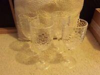 Delux plastic wine glasses