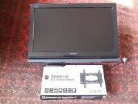 "Sony 32"" LCD TV with wall mount"