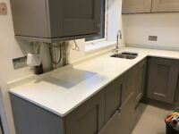 NEW Quartz Worktop 20mm Thick Sink Grainers Tap Hob cutout Supply Fitted Greater London