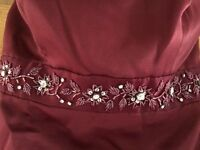 Strapless maroon dress size 6