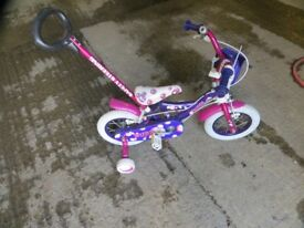 Childs Bike With Stabiliser 2-5yrs / 12.5 inch wheels