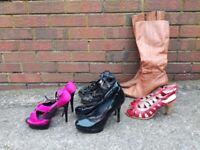 Selection of size 6 high heels shoes and boots