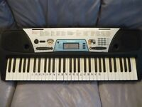 yamaha psr 170,full size light weight digital keyboard/ power supply,various voices , styles etc..