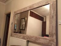 Beautiful 110x185 reclaimed wood mirror , perfect for restaurants,hotel