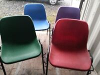coloured stacking chairs 200 available