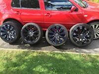 Volkswagen Alloy wheels and tyres x4 235/40/18