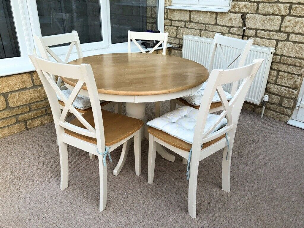 new product ef87b 1d766 Small round dining table + 6 chairs | in Faringdon, Oxfordshire | Gumtree