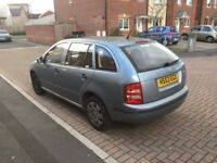 Skoda fabia estatw 2004 reg in good condition,lots of room with a big boot ,px welcome