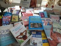 Job Lot, Approx 100 Books covering all areas of health/fitness/exercise,stress/IBS/Massage etc £10