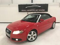 2006 AUDI A4 CONVERTIBLE 2.0T FSI S-LINE AUTO WITH LEATHER, ALLOYS, CLIMATE, BLUETOOTH +MORE