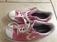 Pink converse shoes - size 3