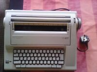 Smith Corona vtx 100 electric typewriter includes correction cassette and manua