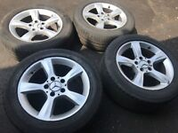 05 MERCEDES C CLASS CLK ALLOY WHELL FULL SET WITH TYRES 16 INC