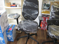 Chair in black with back spine support, (like brand new) (yes it's available)