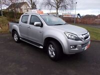 2013 ISUZU D-MAX UTAH PICKUP AUTOMATIC SILVER 73,250 miles LEATHER INTERIOR+++1 OWNER +++++